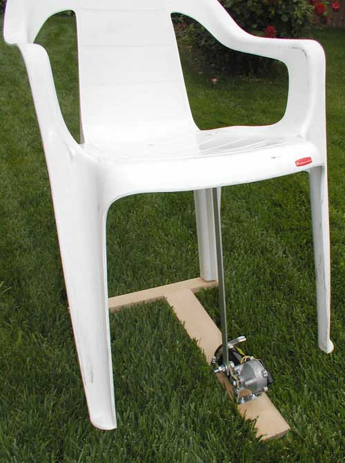 This is a picture of the mechanism weu0027ll be making. It consists of a plastic chair a  T  shaped piece of wood a wiper motor and an aluminum bar to connect ... & Rocking a Chair with a Wiper Motor