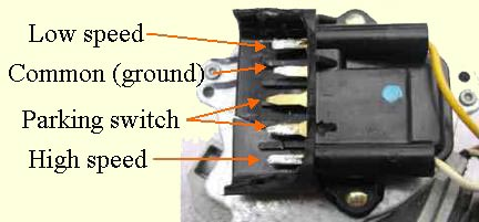 terminals wiper motor 2  at mifinder.co